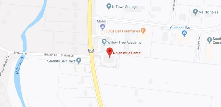 map of area around Nolensville Dental